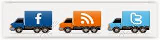 Widget social de caminhões em movimento para Blogger