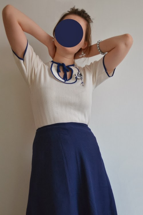 navy, sailor, nautical, blue, white, outfit, pin-up girl