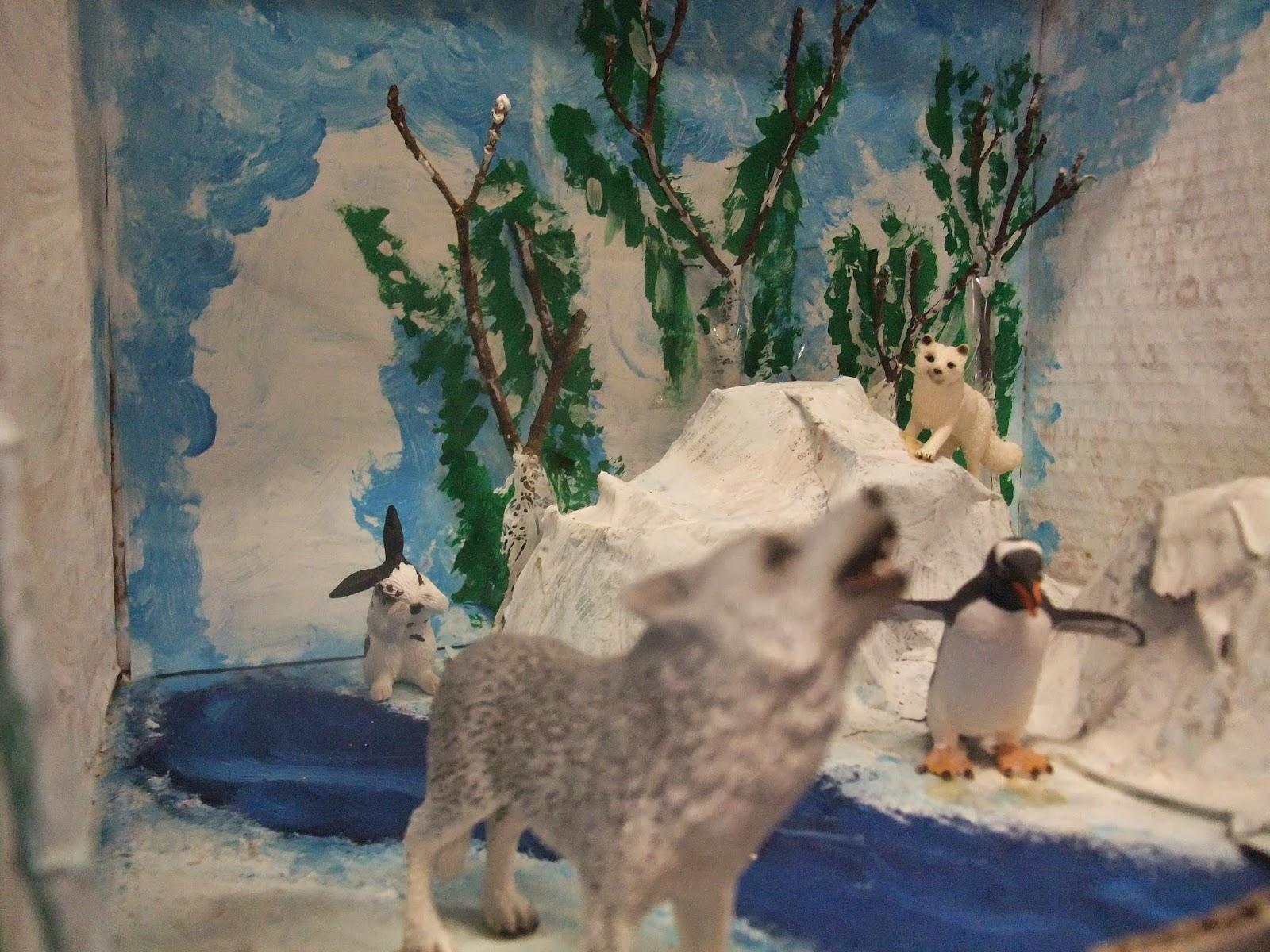 Arctic wolf diorama - photo#6