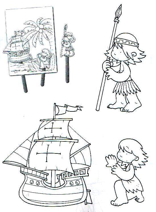 Dibujos Para Colorear De Cristobal Colon