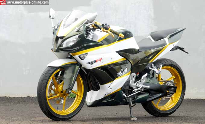 Top modifikasi byson putih full fairing