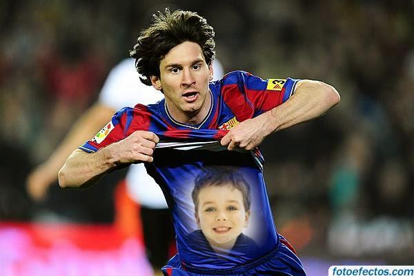 Montagem de fotos Lionel Messi