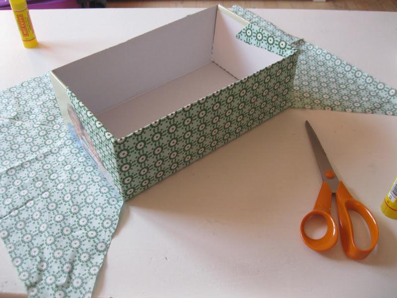 Kreafreak skot js sker f r nyt liv - Forrar cajas de carton con telas ...