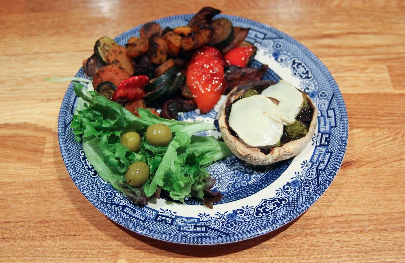 portobello mushroom and goats cheese