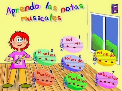 JUEGA CON LAS NOTAS MUSICALES
