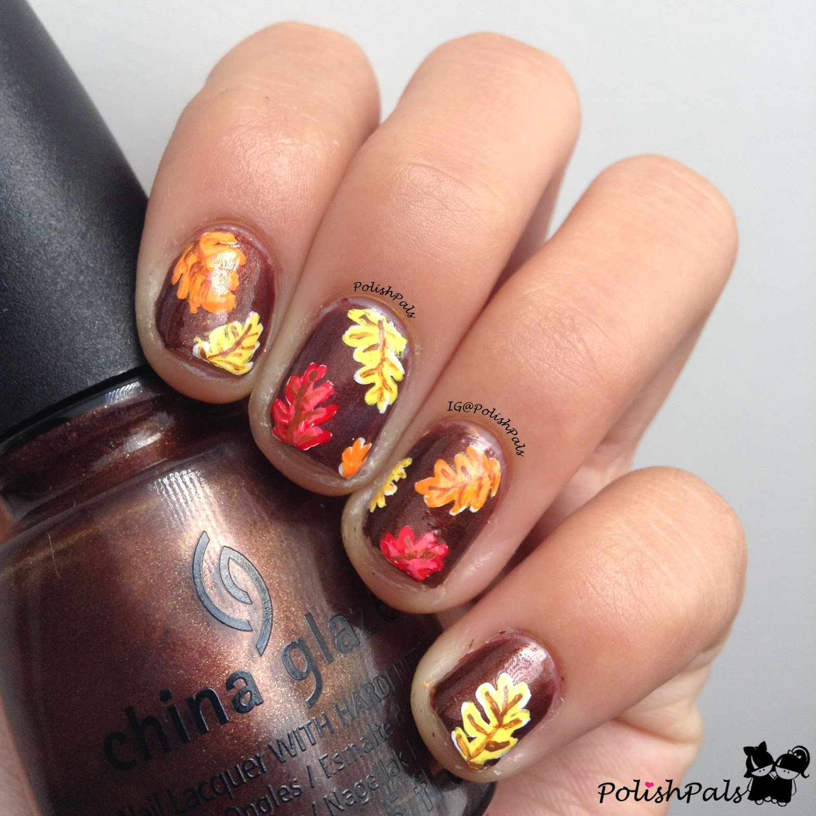 Last Autumn Nail Art Of The Year: Polish Pals: I'm Fine With Fall