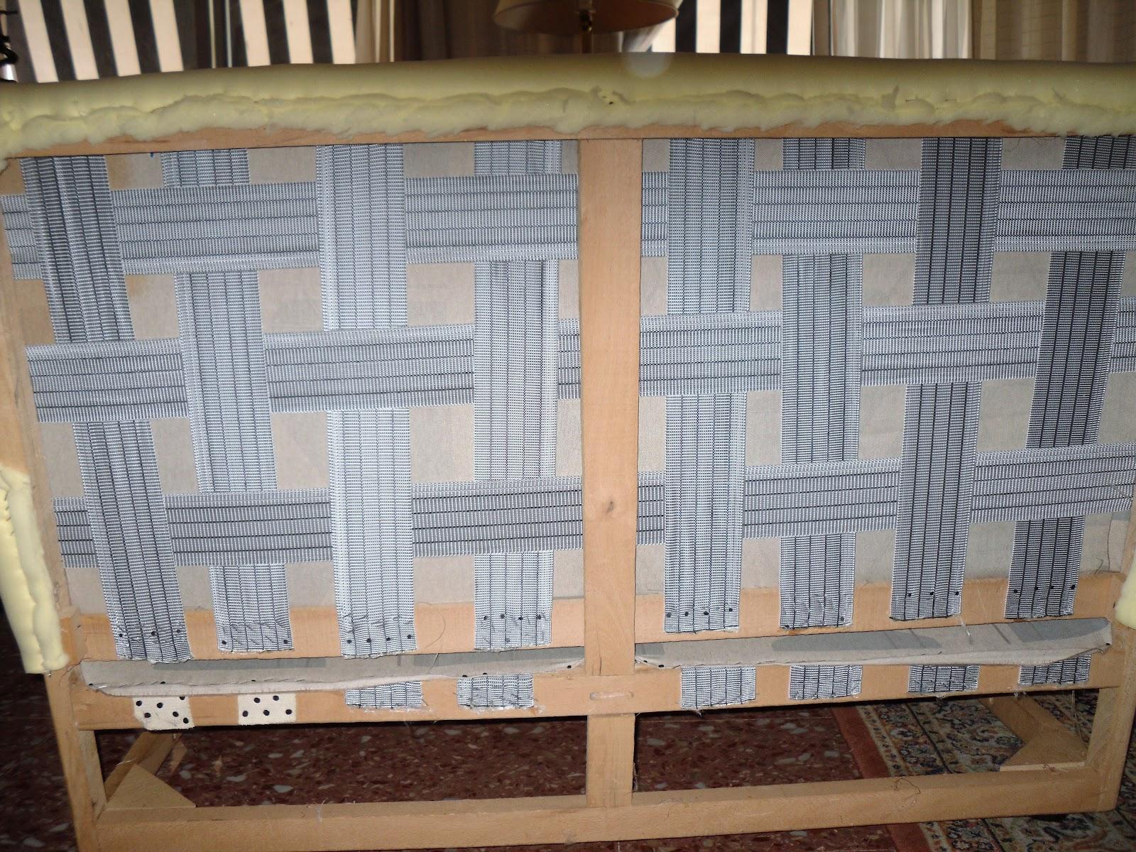 El blog de la restauradora tapizar un sof de dos plazas - Tapizar sofa ...