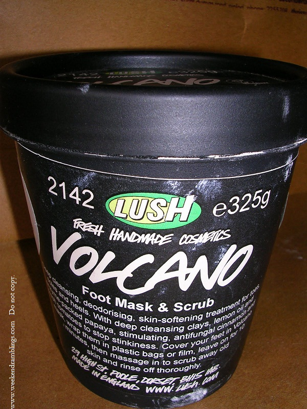 lush volcano foot mask and scrub reviews