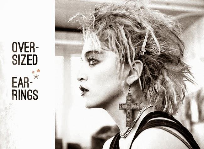 80's Madonna Fashion - oversized jewelry