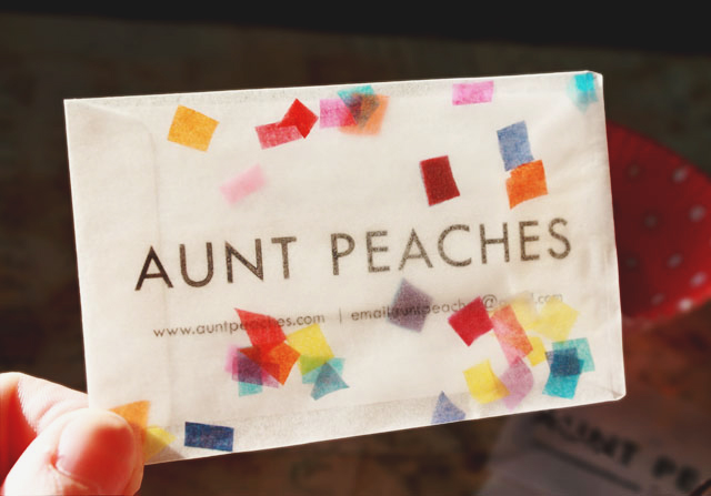 Homemade Confetti Aunt Peaches