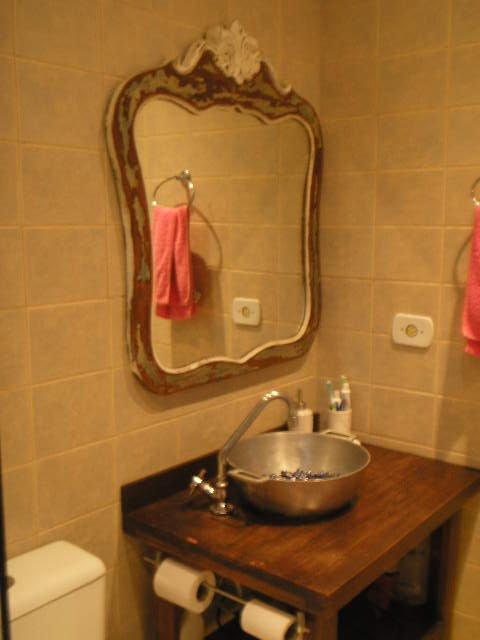 Adesivo De Chão Que Imita Madeira ~ Inspiraç u00e3o para banheiros e lavabos rústicos! Jeito de Casa Blog de Decoraç u00e3o