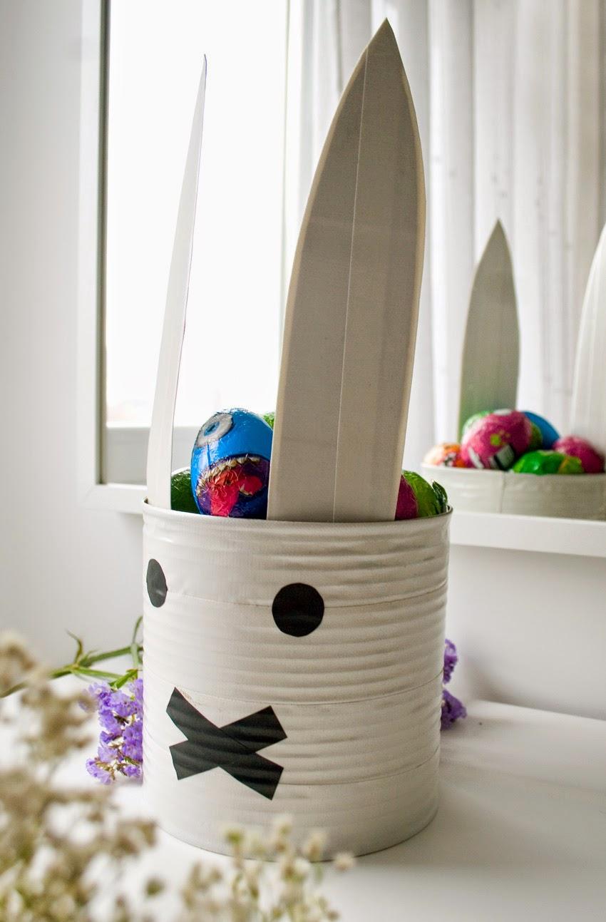 Taller de creactividad: Diy conejo para lo huevos de Pascua en una lata10