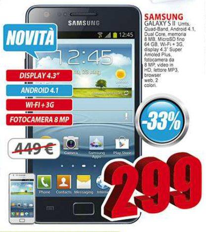 A 299 euro con un risparmio di circa 40 euro trovate da Eldo il Galaxy S 2 Plus uno smartphone android jelly bean 4.1
