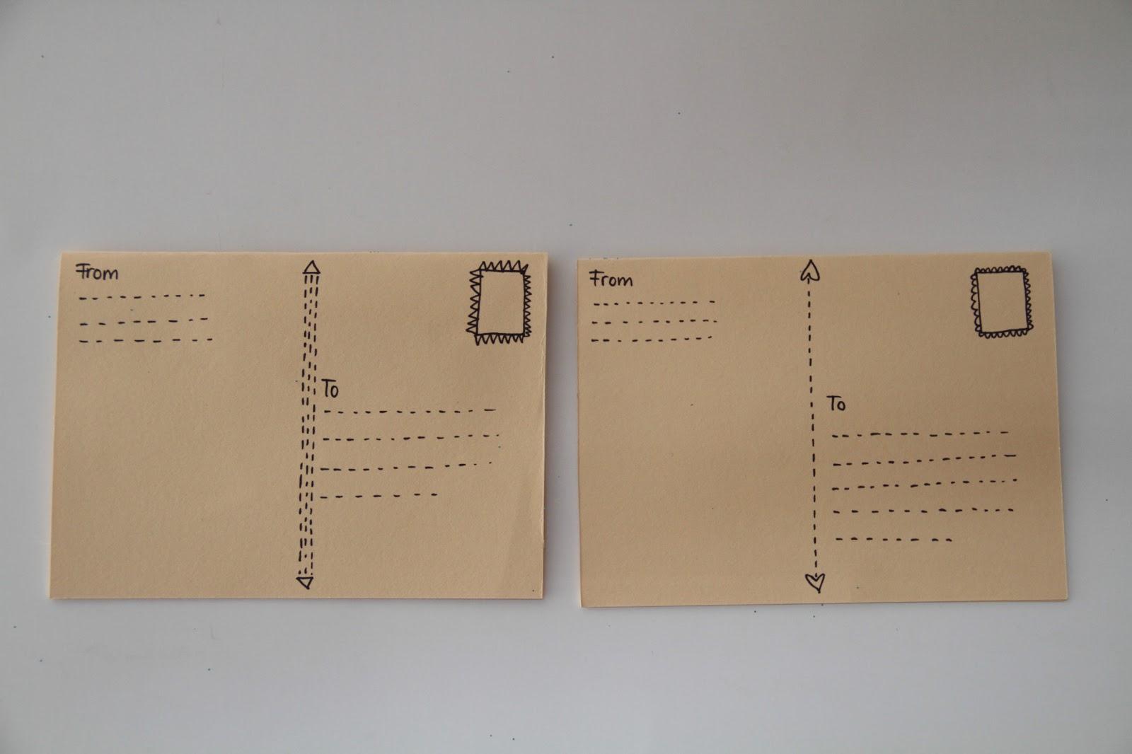 basteldibix besondere postkarten selbst gestalten. Black Bedroom Furniture Sets. Home Design Ideas