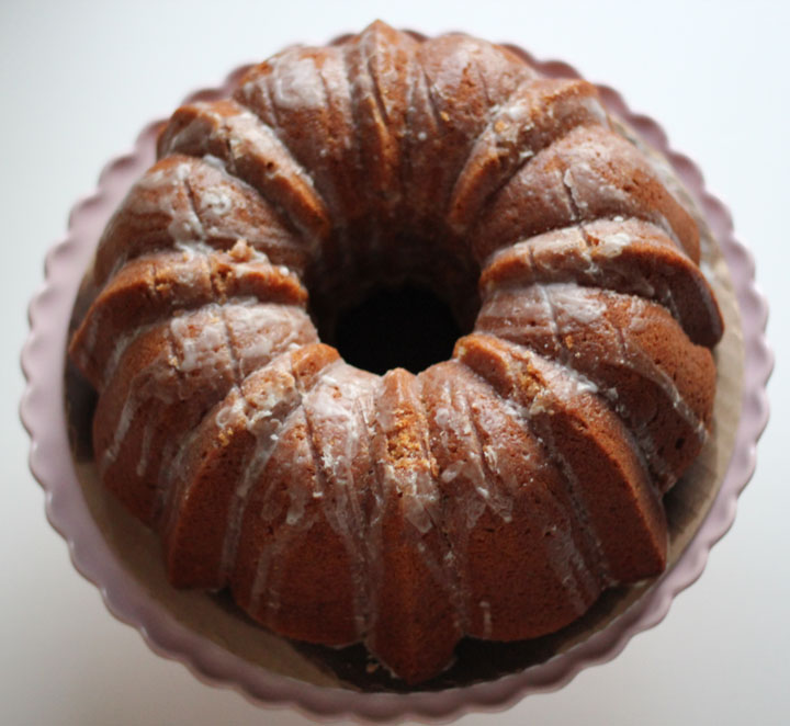 ... comfort: Pumpkin Spice Bundt Cake with Buttermilk Icing #BundtaMonth