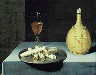 Lubin Baugin - Nature morte aux gaufrettes