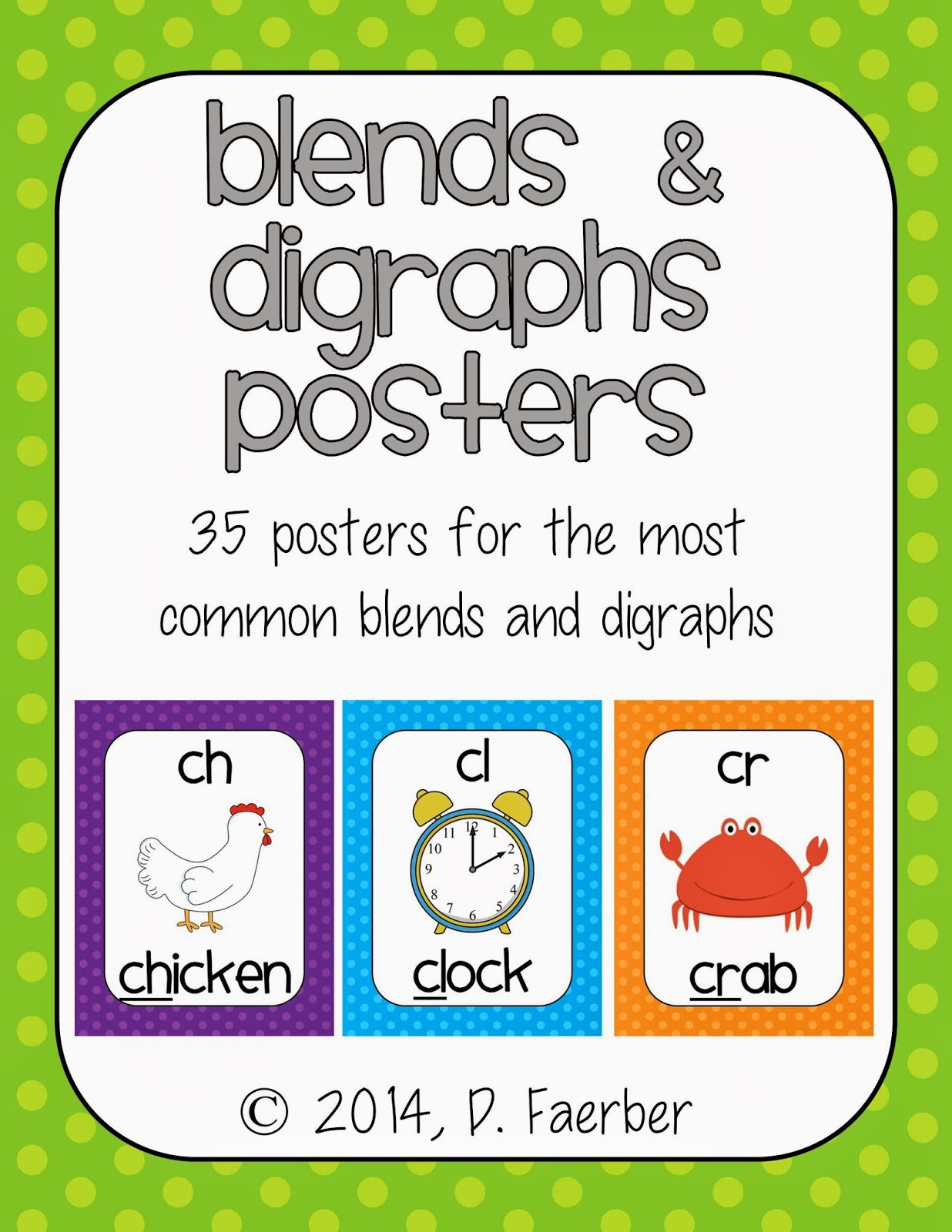 http://www.teacherspayteachers.com/Product/Blends-and-Digraphs-Posters-in-Polka-Dots-1087336