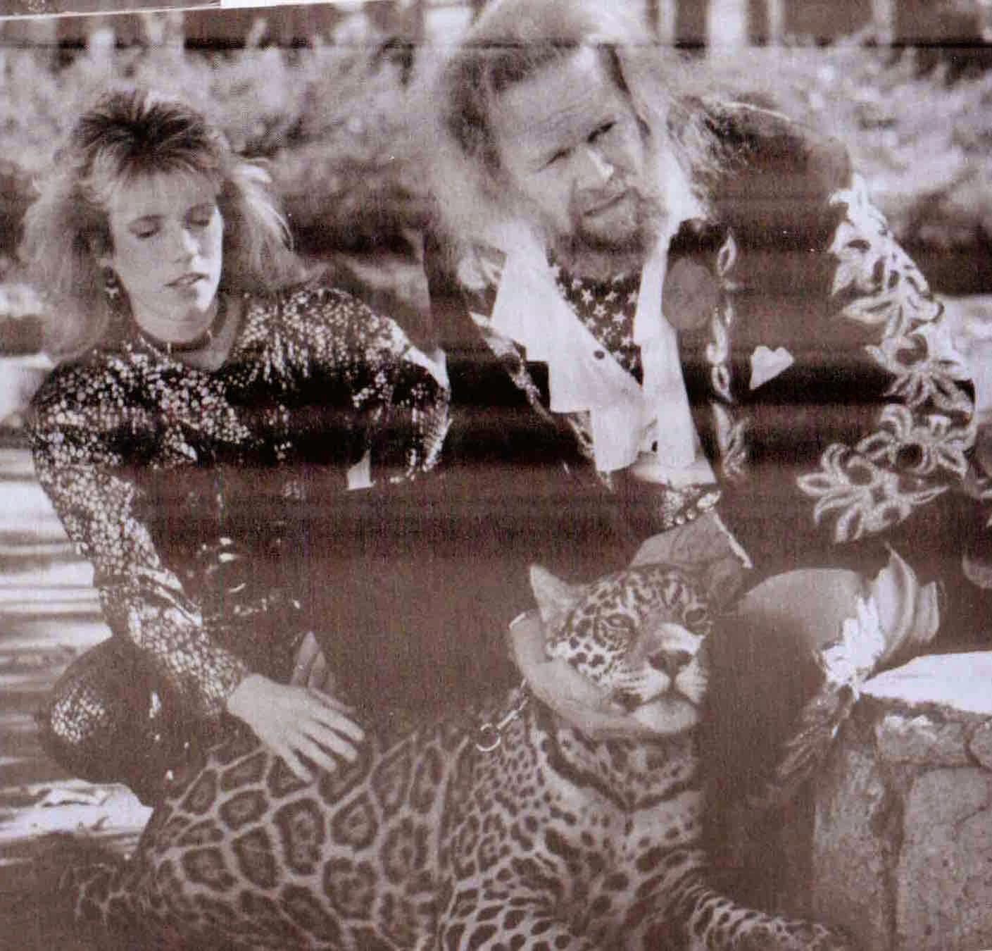 David Allan & Jody Coe with Lulu the Jaguar
