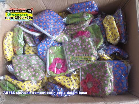 souvenir dompet batik ceria dalam busa jual