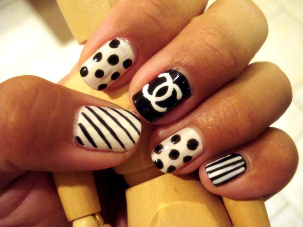 Nail design chanel nail arts chanel nails inspiration and manicure designs chanel nail design fashion beauty mix polish pinterest gorgeous chanel nail art nail designs nail prinsesfo Image collections