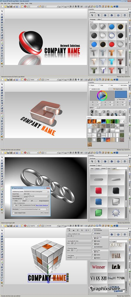 Aurora 3d text and logo maker free download full version for 3d creator online