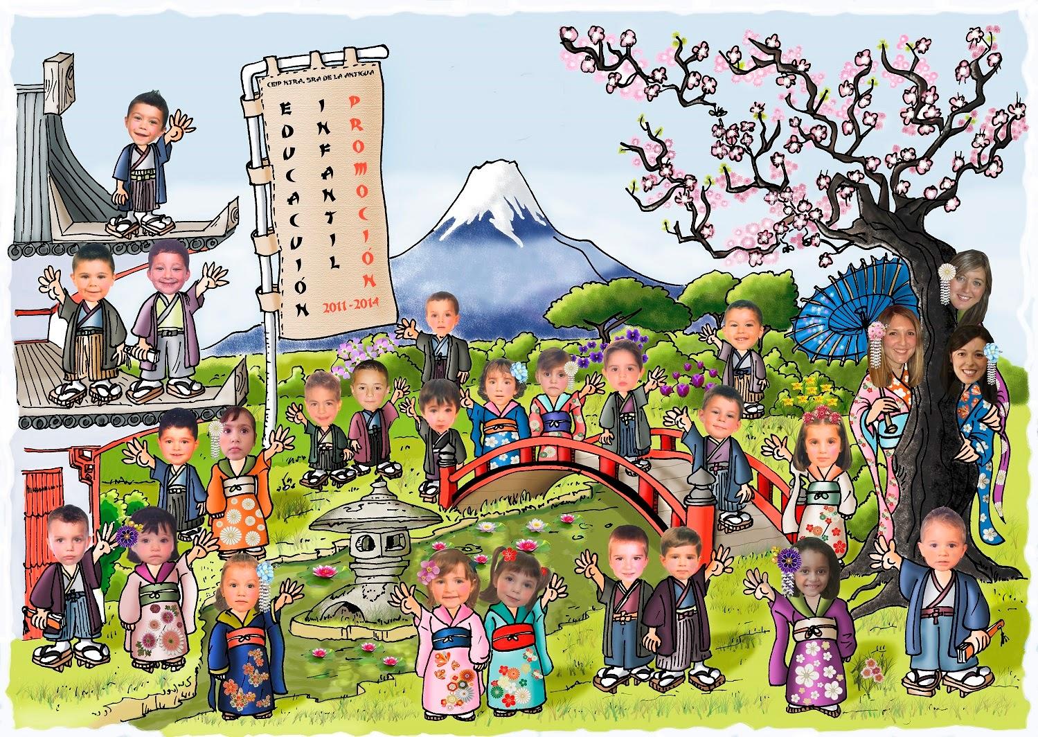 El monstruito en monteagudo orlas - Dibujos infantiles originales ...