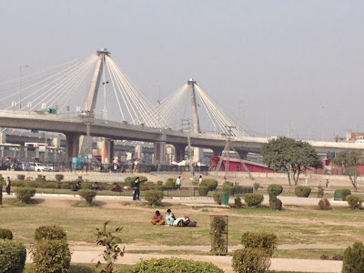 The Elevated Metro Bus Track near Minar-e-Pakistan Lahore