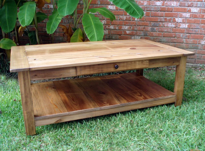 Solid Cypress Atchafalaya Coffee Table Click To Enlarge