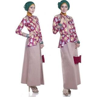 Baju Kerja batik Muslimah Modern