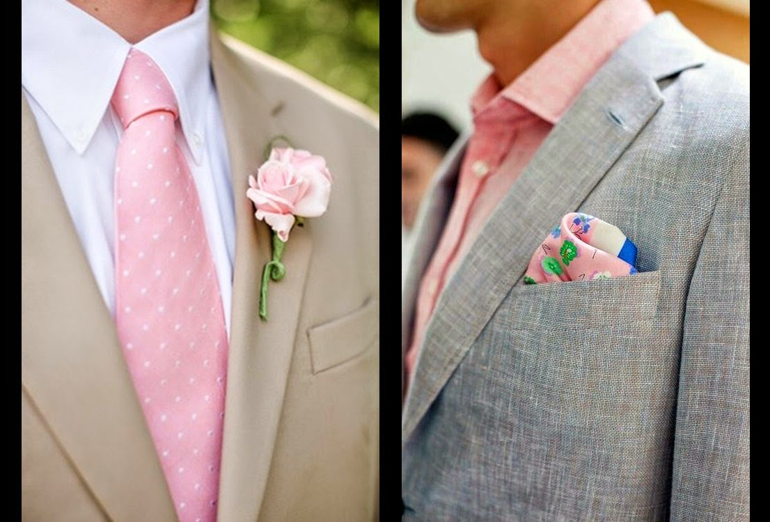 Como combinar un traje claro de novio 2