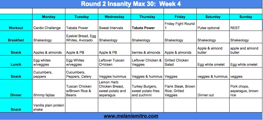 Insanity Max 30 Meal Plan, Melanie MItro, Top Coach, Accountability ...
