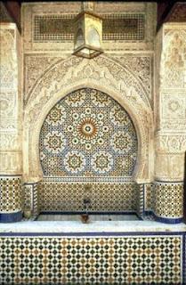Handmade Moroccan zillij tile fountain