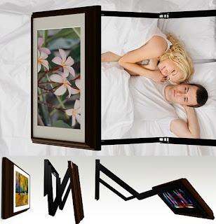 Hidden tv behind a picture frame