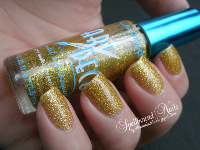 a week of glitter gold glitz Art Deco Spellbound nails nailart nail art mani manicure polish LA Colors