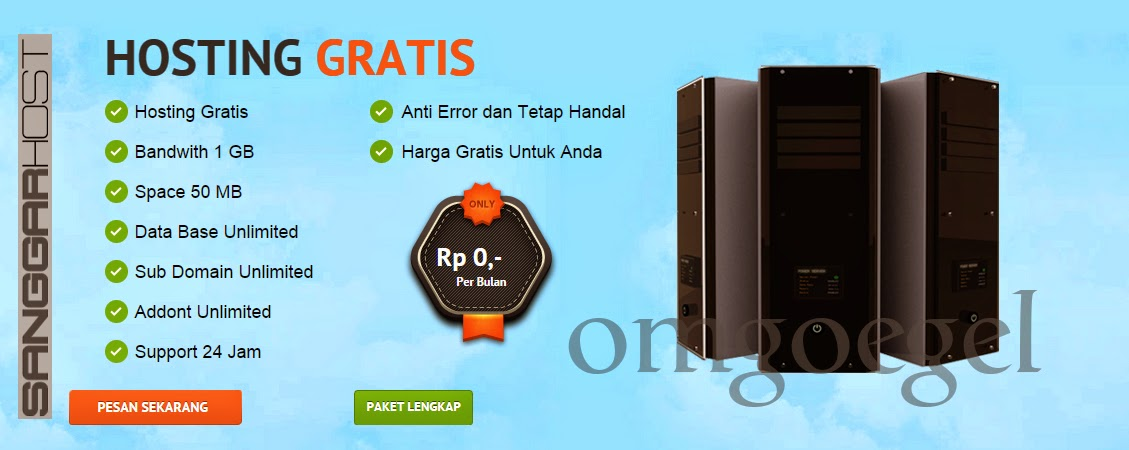 SanggarHost.com Web Hosting Gratis, Murah, Terbaik, dan Berkualitas di Indonesia