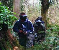 Paintballing in the woods of Cahutta!