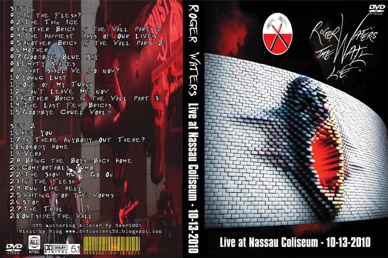 DVD Concert TH Power By Deer 5001: Roger Waters - The Wall @ Nassau ...