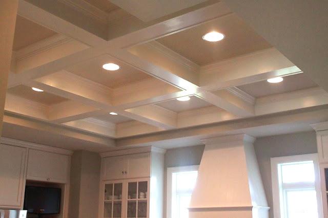 Jenny steffens hobick jill 39 s kitchen white marble for Box beam ceiling
