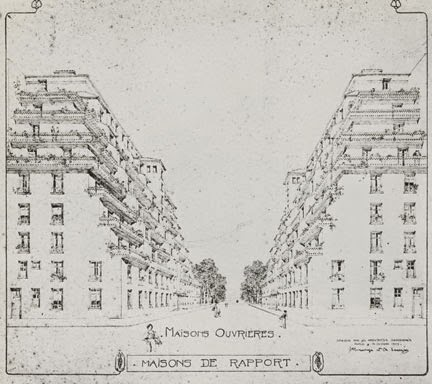 This View Of Workers Housing By Henri Sauvage U0026 Charles Sarazin (1909)shows  How Powerful A One Point Perspective Layout Can Be.