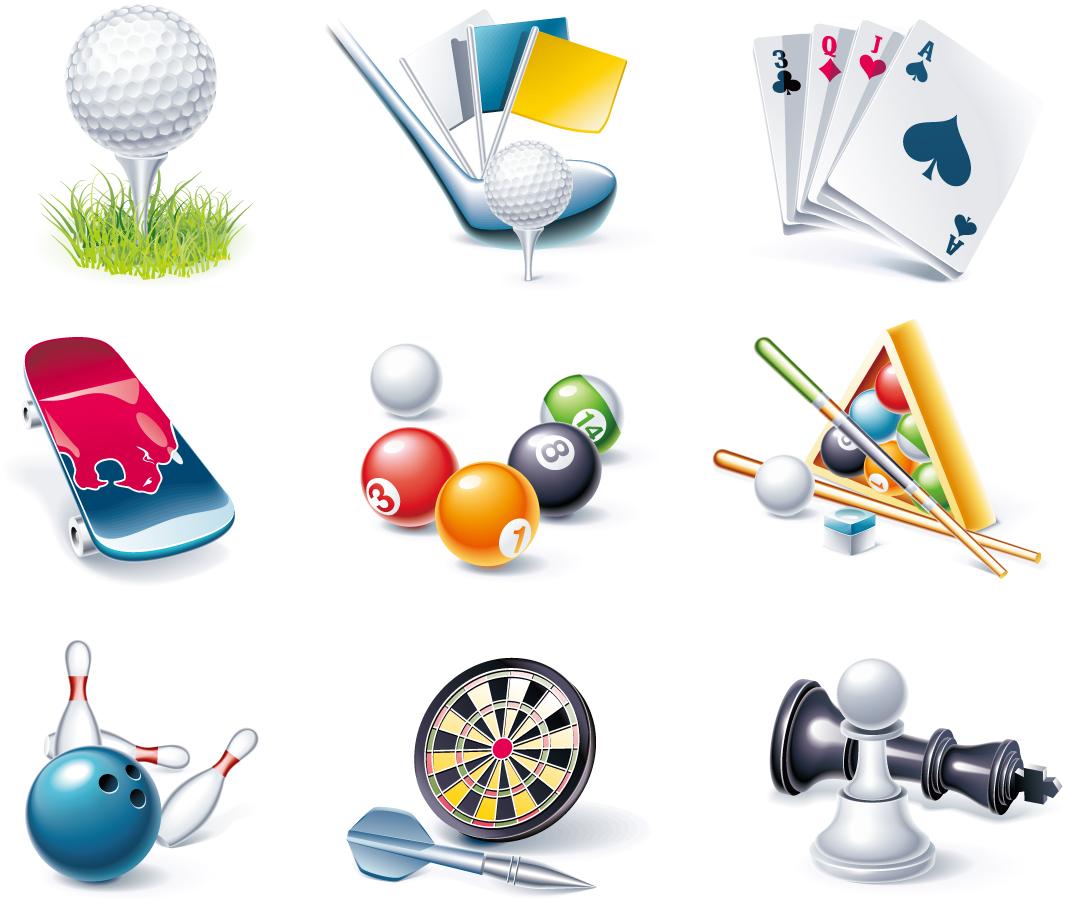 ゲーム用品のクリップアート Game entertainment icon イラスト素材