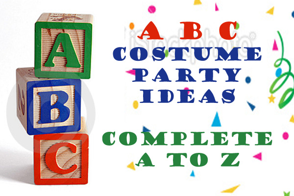 Costumes Beginning With Each Letter Of The Alphabet