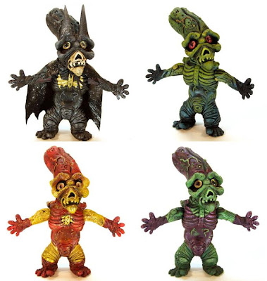 Super Hero PickleBaby Resin Figures by Leecifer - Batman, Swamp Thing, Iron Man &amp; Green Goblin