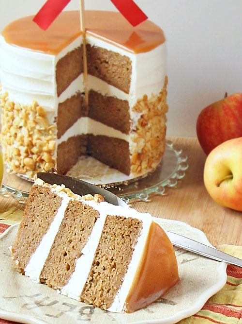 Baked Explorations Caramel Apple Cake