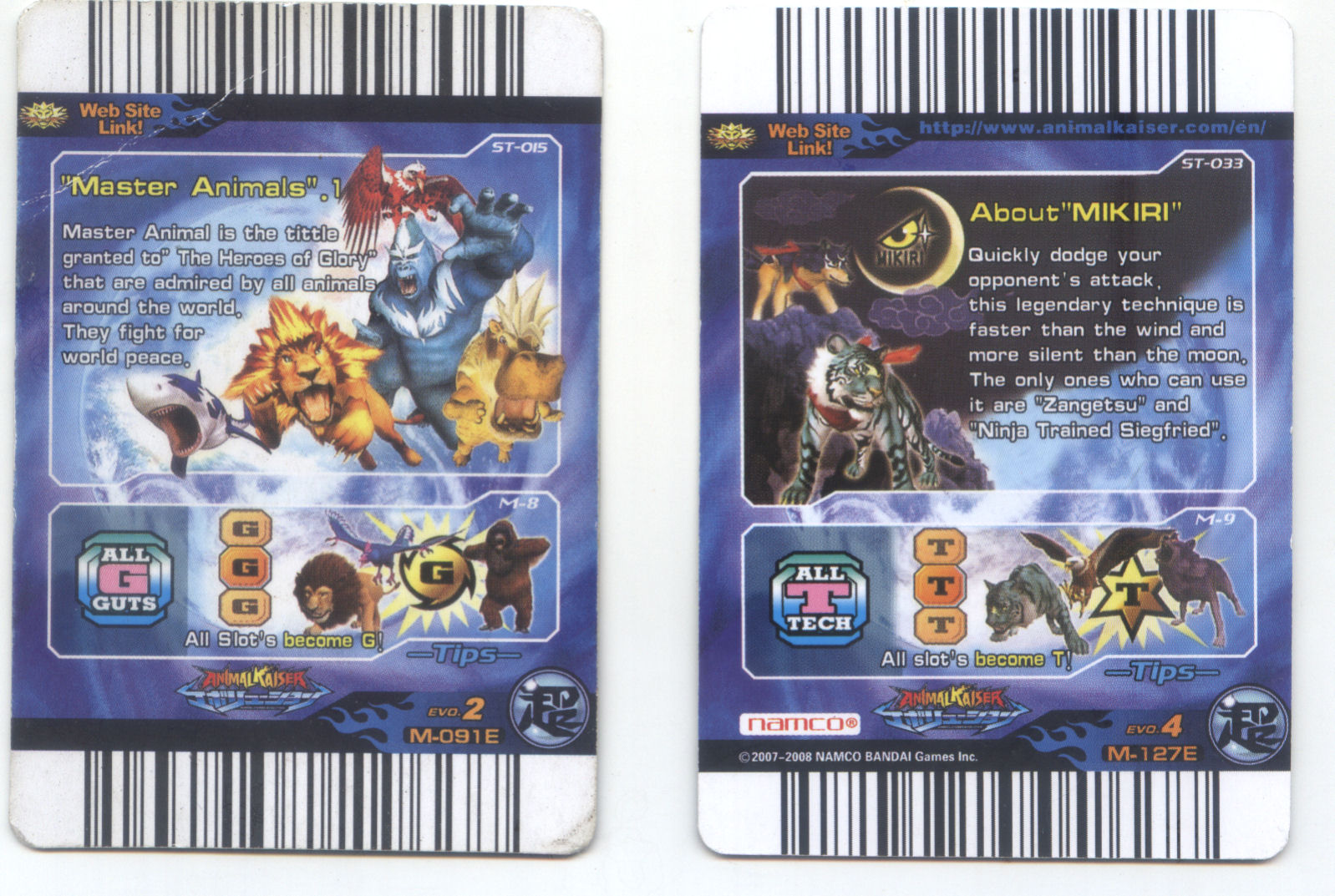 Animal Kaiser Saturn Saw And Crashing Moon Miracle Cards