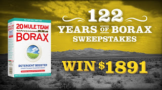 122 Years of Borax Sweepstakes. Enter to win $1891. Ends 9/17