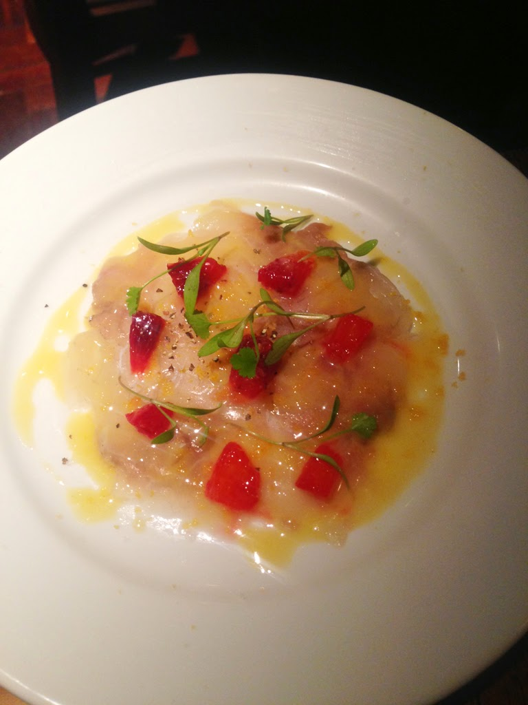 ember yard bream carpaccio