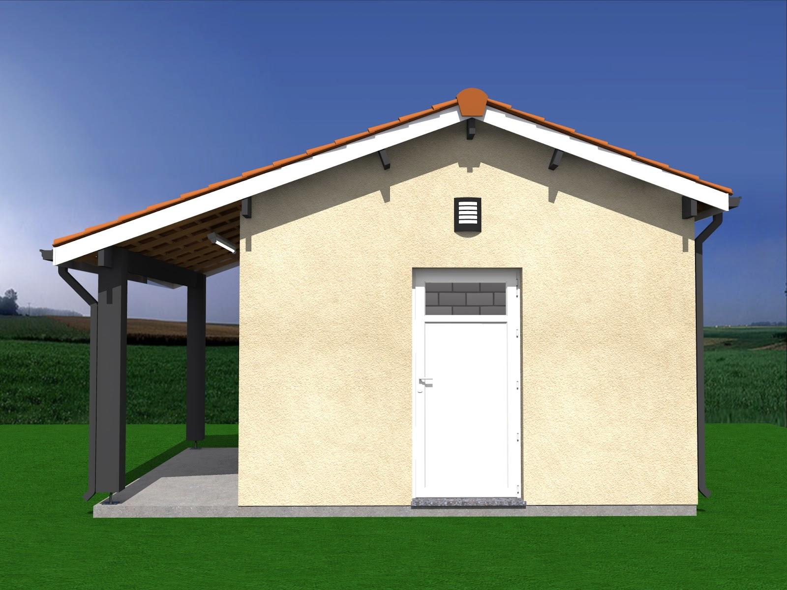 Projet de construction abri de jardin auvent 20m2 for Construire un abri de jardin