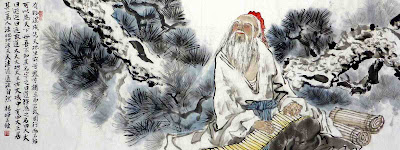 Lao Tzu in forest