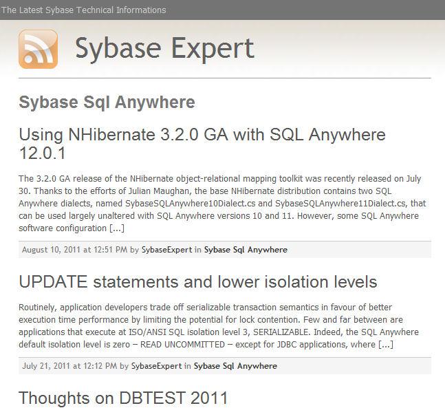Sybase SQL Anywhere Studio 8