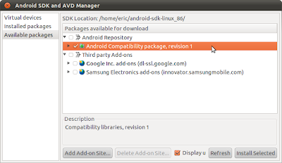 Install Android Compatibility package